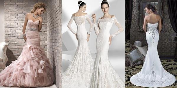 Фото свадебных платьев разные фасоны.