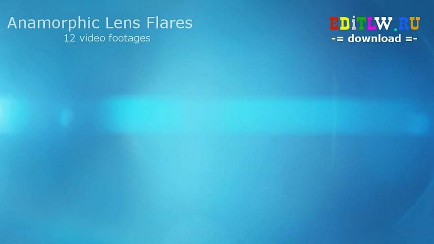 12 Anamorphic Lens Flares (video footage)
