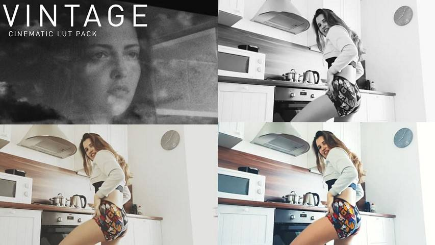 12 Free LUTs Vintage for Color Grading Videos