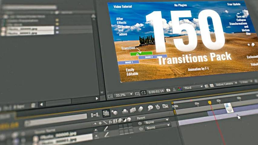 150 Transitions Pack - After Effects Project from VideoHive