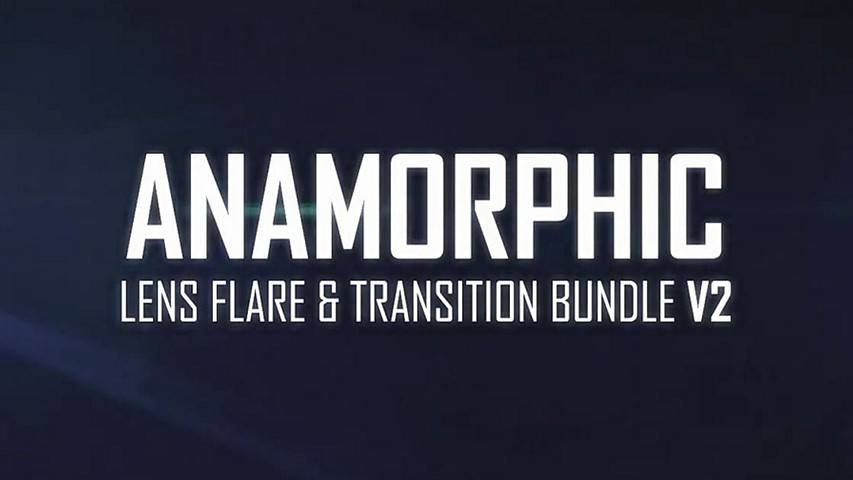 Anamorphic Lens Flare & Light Transitions Bundle V2