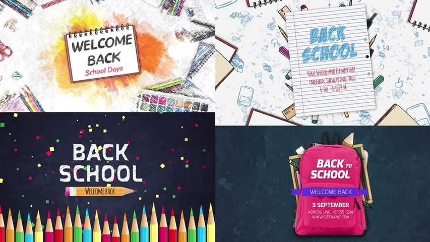 Back To School After Effects templates free