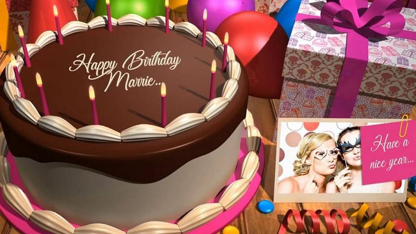 Birthday Cake - Free After Effects Projects