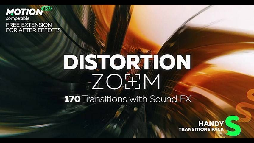 Distortion Zoom Transitions - After Effects Projects