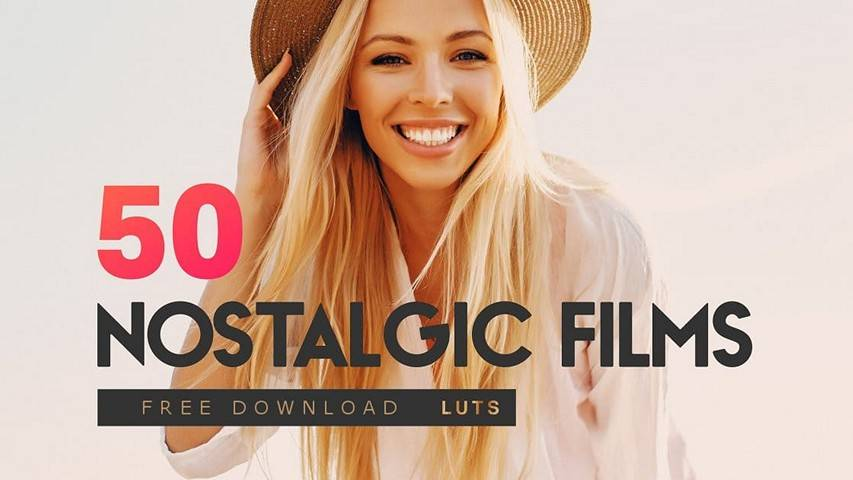 Download free LUT files - 50 Nostalgic Films