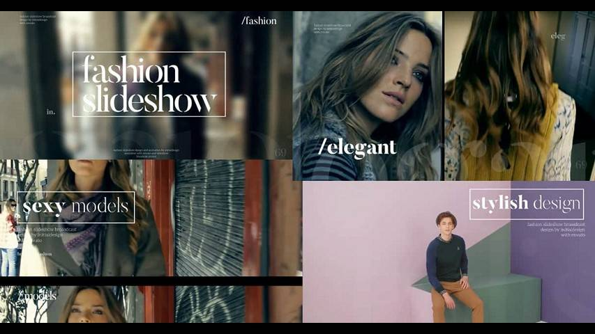 Fashion Slideshow - After Effects Project Files
