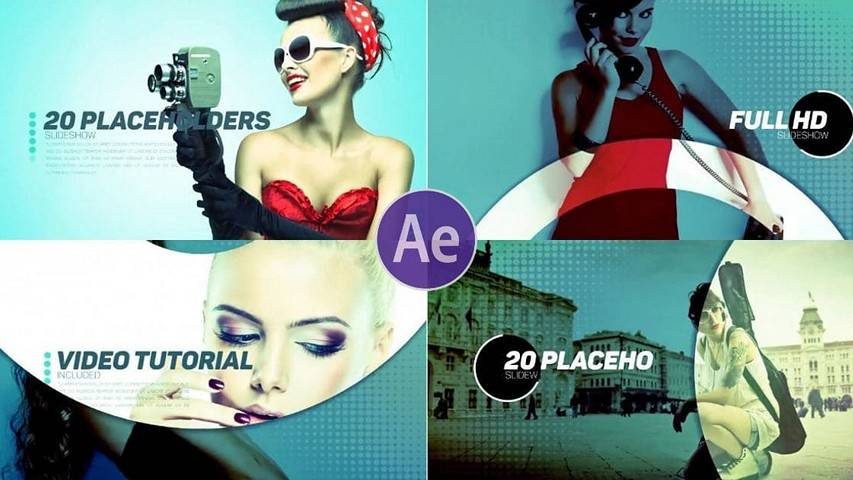 Flat Slideshow - Free AE Project Fashion