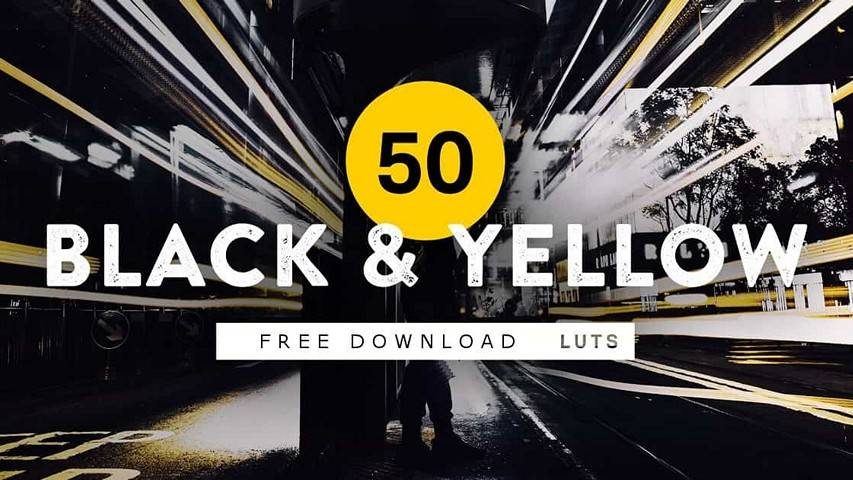 Free LUT for Color Grading Videos - 50 Black & Yellow