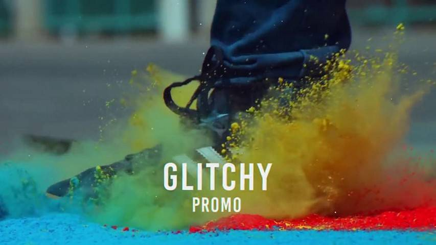 Glitch Promo Slideshow - After Effects Templates