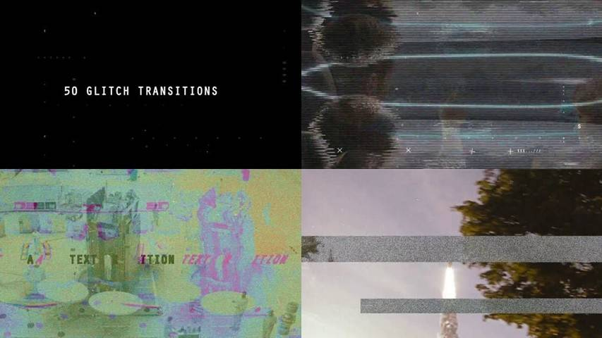 Glitch Transitions - After Effects Projects