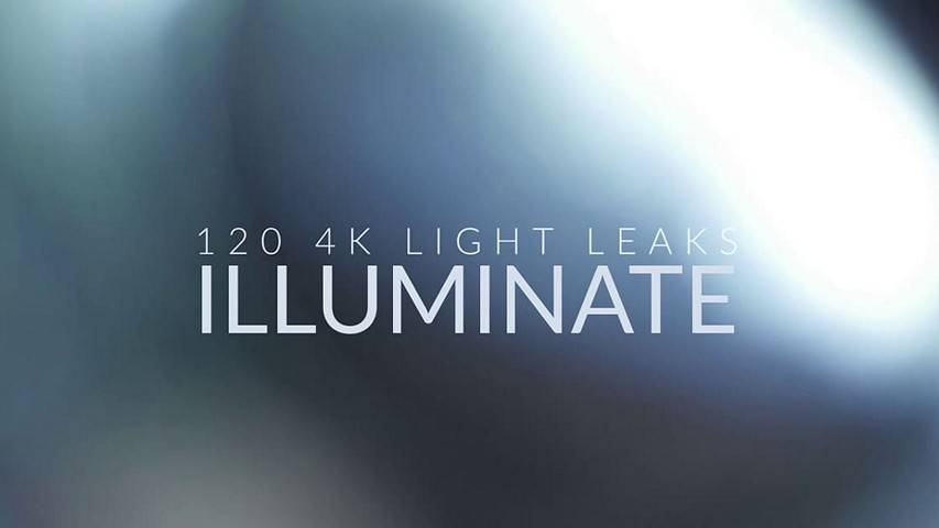 Illuminate 4k Light Leak - 120 Elements for Premiere Pro and other NLEs