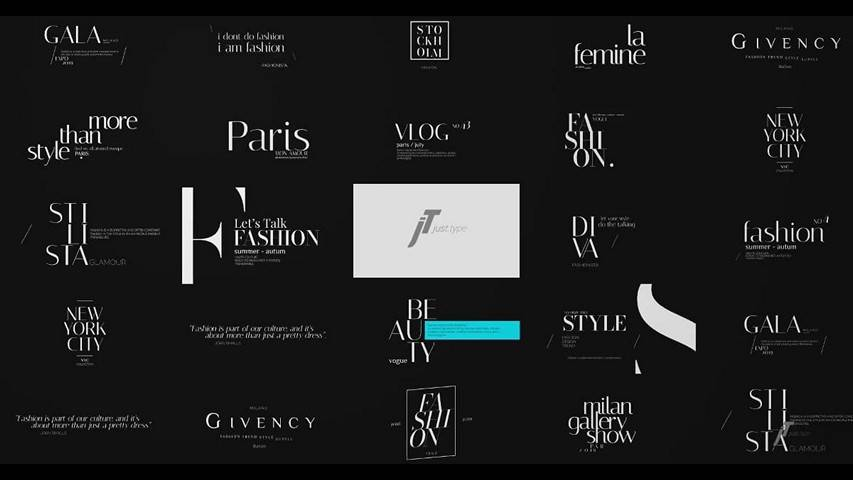 Just Type | Fashion Titles - AE Project Videohive