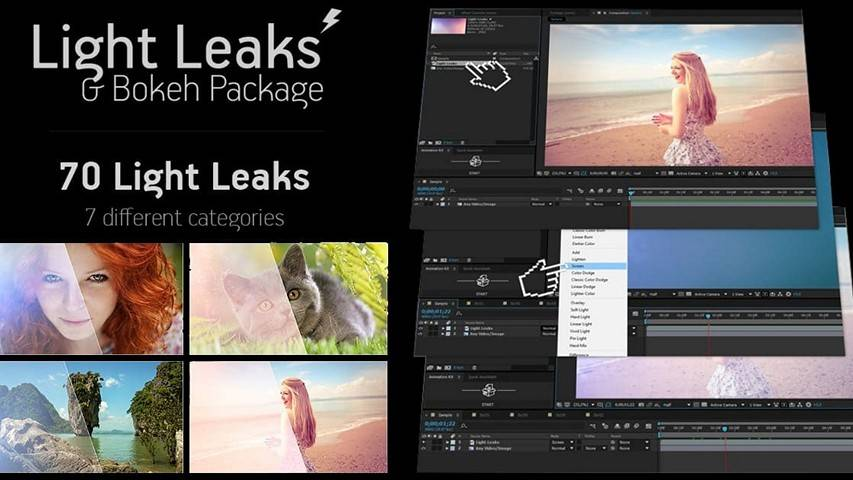 Light Leaks & Bokehs Video Footages - Free Motion Graphics
