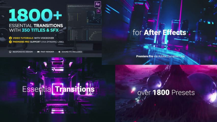 Переходы для After Effects от сайта Videohive 20139771