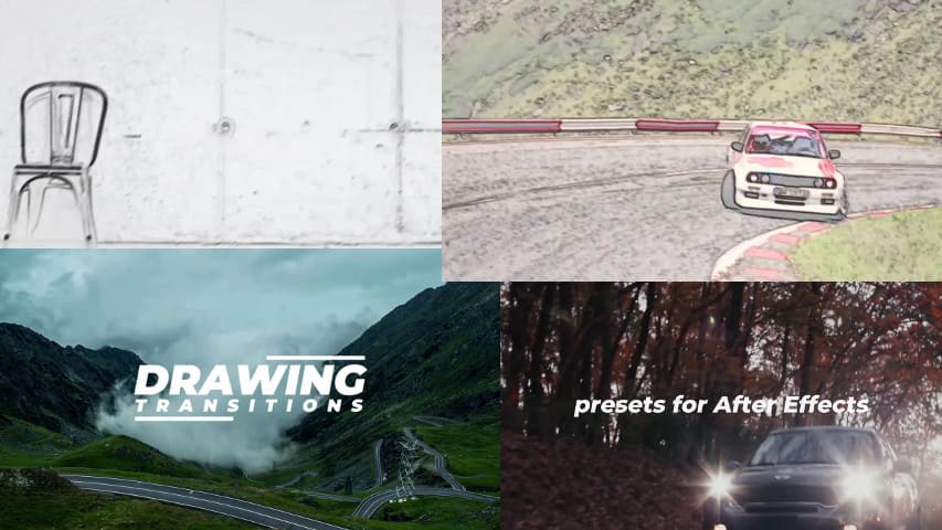 Переходы Drawing - АРТ Пресеты для After Effects