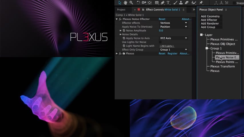 Плагин Plexus с Лекарством для After Effects (aescripts)