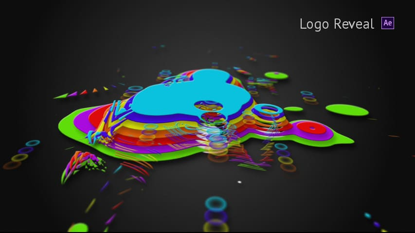 Раскрытие логотипа Fluid Colors - After Effects Project