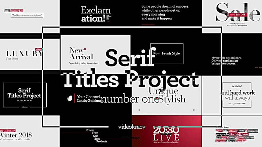 Serif Titles - Project for After Effects [Videohive]