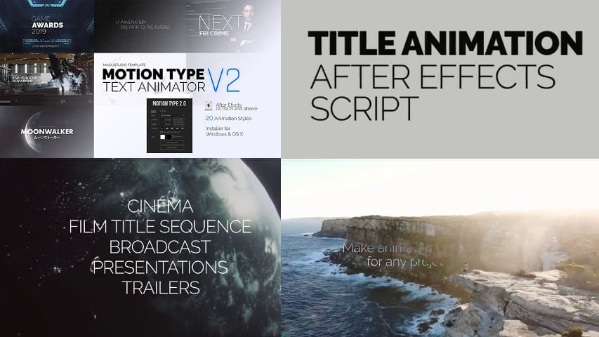 Скрипт After Effects - Текстовый Аниматор Videohive
