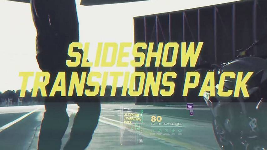 Slideshow Transitions Pack v4 - Free Project for After Effects