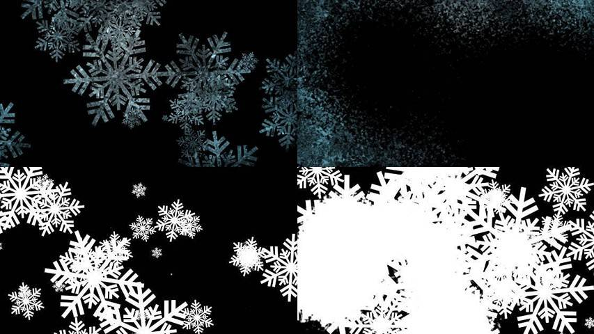 Snowflakes Transitions - Free Motion Graphics