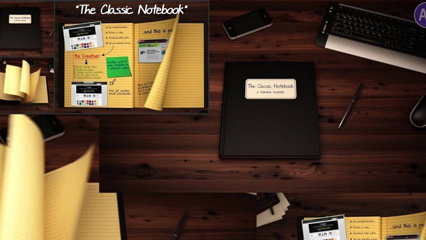 The Classic Notebook - Free After Effects Project