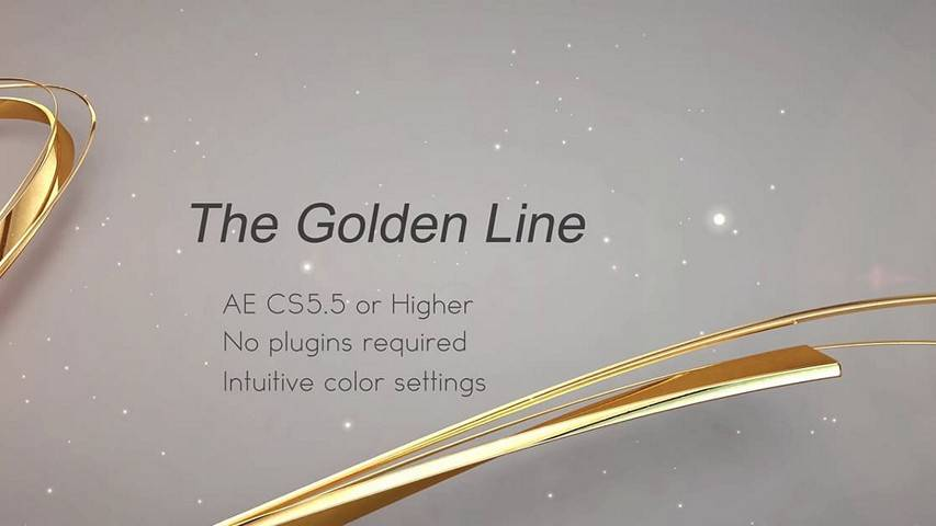 The Golden Line - Free After Effects Projects