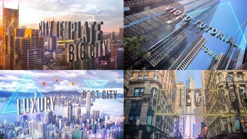 Titles of City - Free After Effects Projects