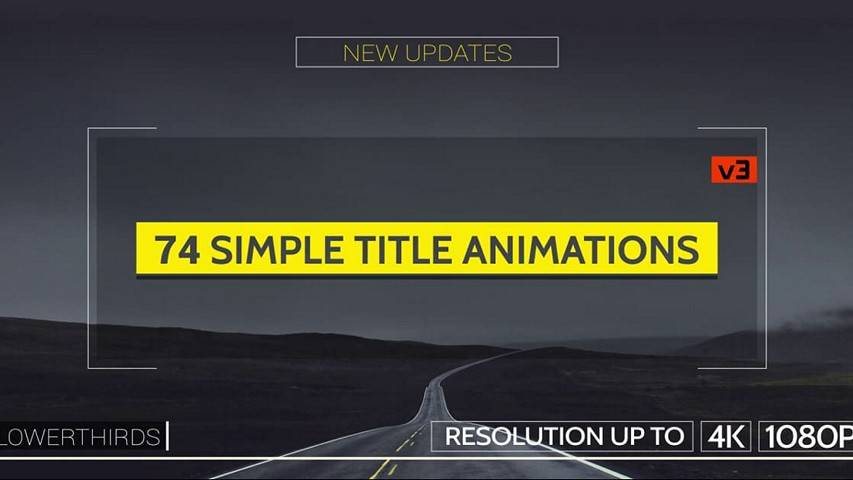 Титры для видео Simple v3 [Ae Project]