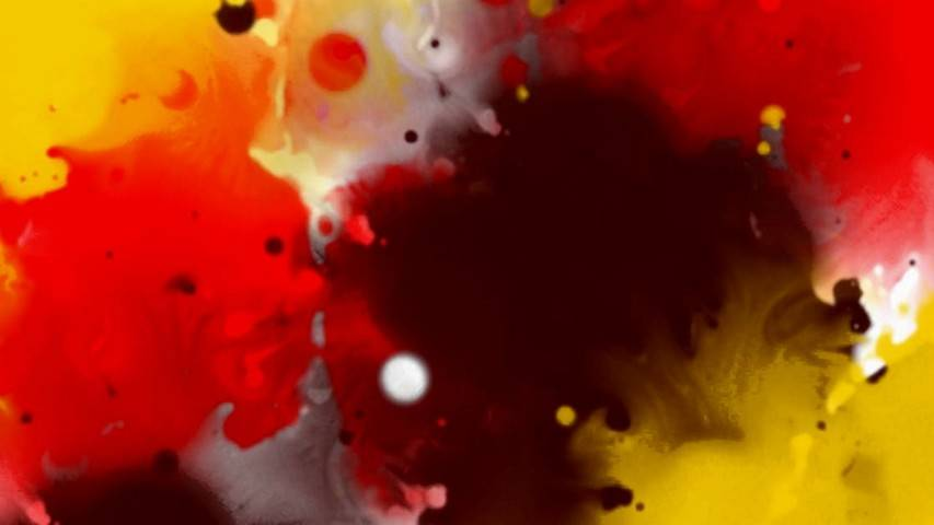 Transition Free Video Clip: Splatters Color