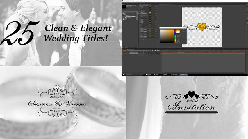 VideoHive: 25 Wedding Titles - Clean and Elegant