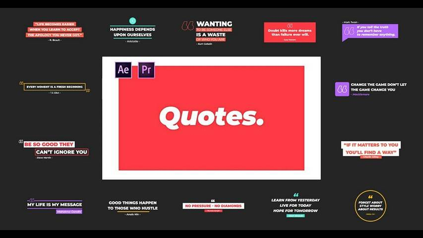 Videohive: Quotes - After Effects Project & Premiere Pro MOGRT