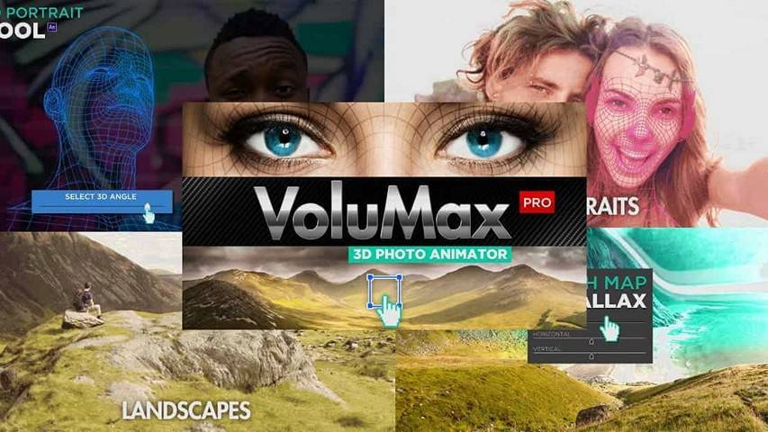 VoluMax - 3D Photo Animator v5.x Pro - After Effects Project