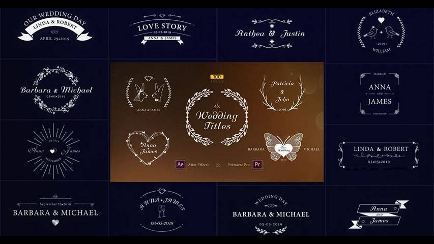 Wedding Titles 23506580 - Free After Effects Templates